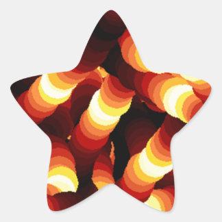 Abstract Firelight Glow Worm Star Sticker
