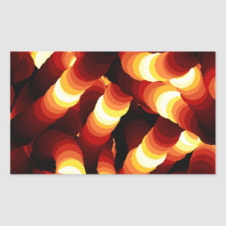 Abstract Firelight Glow Worm Rectangle Stickers