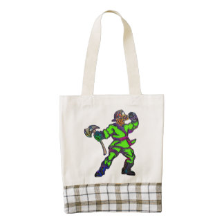 Abstract Firemen Zazzle HEART Tote Bag
