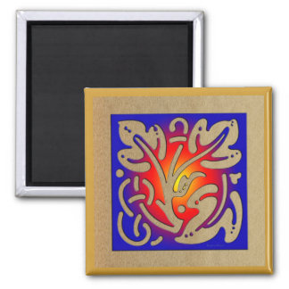 Abstract Fireplace Magnets