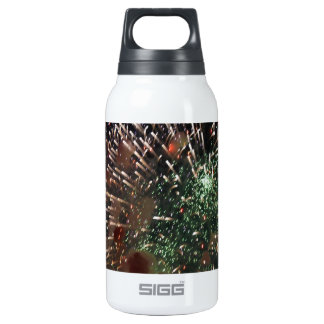 Abstract Fireworks Green Closeup Insulated Water Bottle