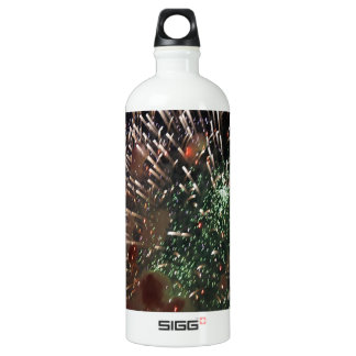 Abstract Fireworks Green Closeup Water Bottle