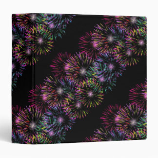 Abstract Fireworks Pattern 3 Ring Binder