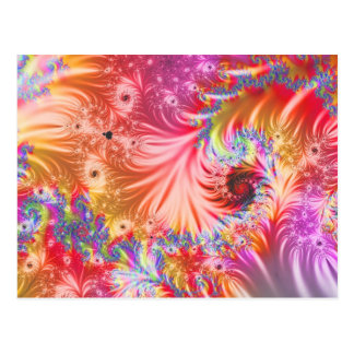 Abstract Fireworks Post Cards