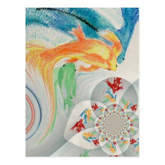 abstract fish#1 postcard