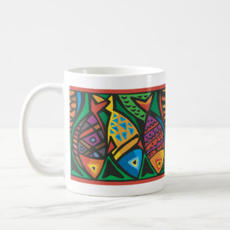 Abstract Fish Art Design Coffee Mug