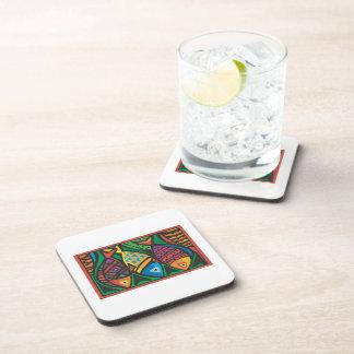 Abstract Fish Art Design Drink Coaster