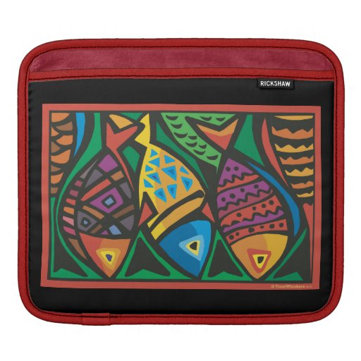 Abstract Fish Art Design Sleeve For iPads