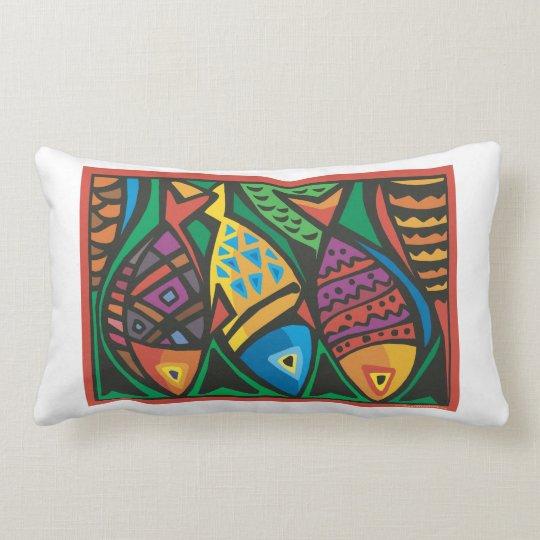 Abstract Fish Art Design Lumbar Pillow