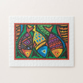 Abstract Fish Art Design Puzzle