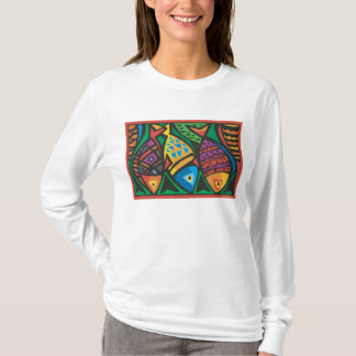 Abstract Fish Art Design T-Shirt