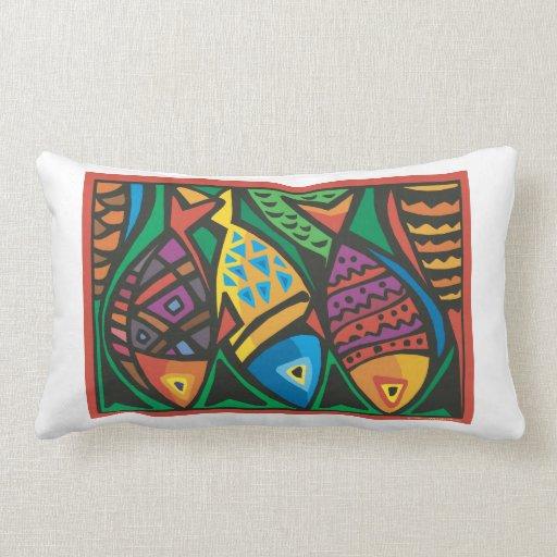 Abstract Fish Art Design Throw Pillow