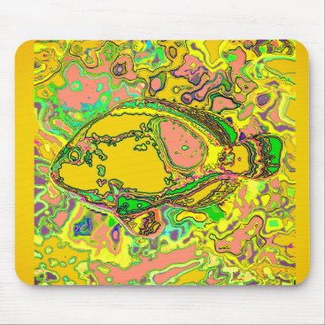 Professional Business Abstract_Fish_Art_Multi-Colors-Unisex Mouse Pad