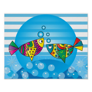 Abstract Fish Art Poster