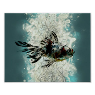 Abstract Fish design Poster