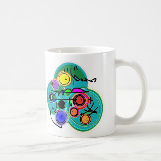 abstract fish in fish bowl mugs