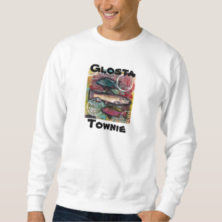 Abstract Fish, Mixed Media Gloucester, MA Pull Over Sweatshirt