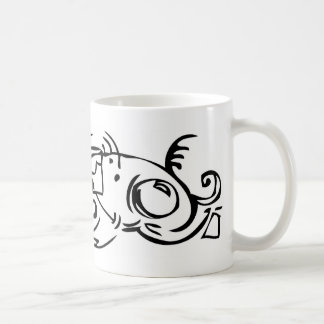 Abstract fish mug