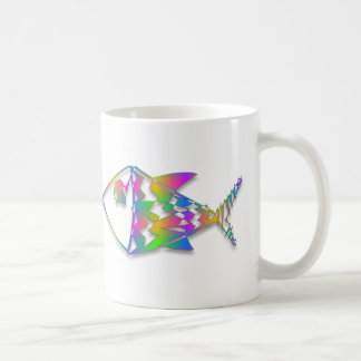 Abstract Fish Coffee Mugs