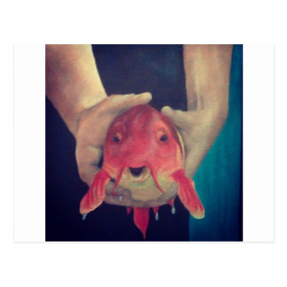 Abstract Fish Postcard
