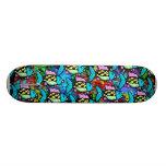 abstract fish skateboard decks