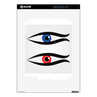 Abstract fish with large eyeball inside decals for iPad 2
