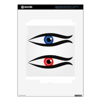Abstract fish with large eyeball inside iPad 3 skin