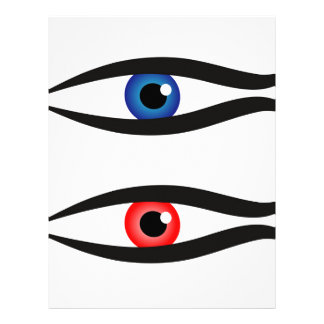 Abstract fish with large eyeball inside letterhead