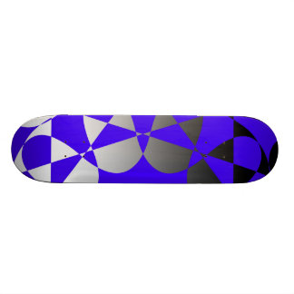Abstract Flag in Blue Skateboard Deck