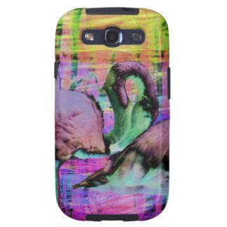 Abstract Flamingo Art Galaxy SIII Case