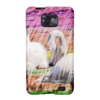 Abstract Flamingo Art Samsung Galaxy S2 Covers