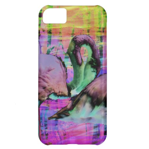 Abstract Flamingo Art iPhone 5C Cover