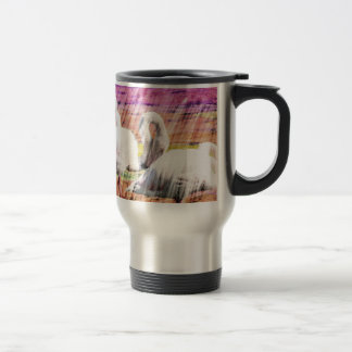 Abstract Flamingo Art Coffee Mugs