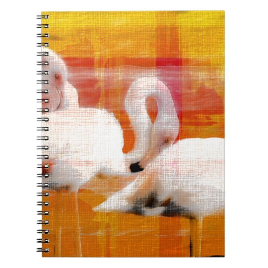 Abstract Flamingo Art Notebook