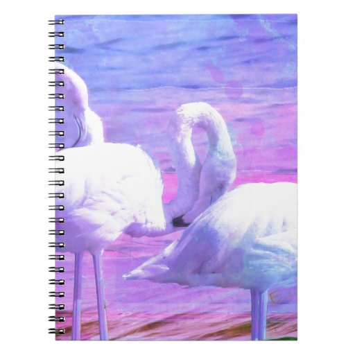 Abstract Flamingo Art Notebook