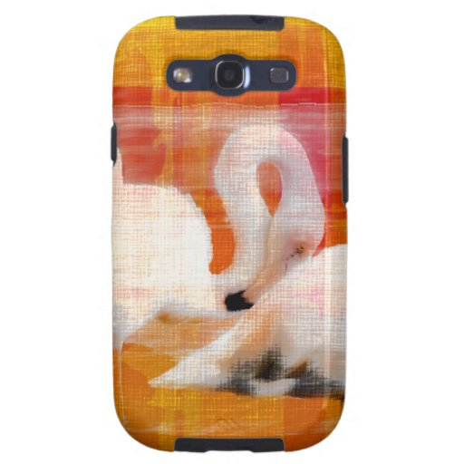 Abstract Flamingo Art Samsung Galaxy S3 Cases