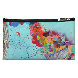 Abstract Flight by Letter Bagette Makeup Bags