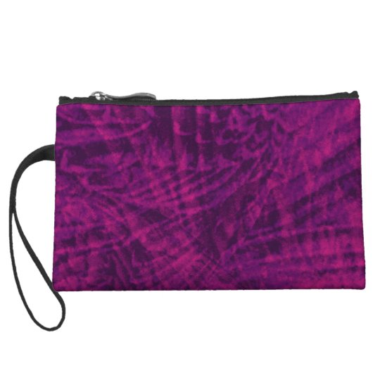 Abstract flight of the purple parrot clutch bag