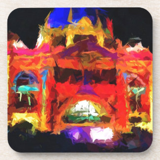 Abstract Flinders street station Drink Coasters