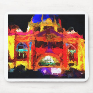Abstract Flinders street station Mousepad