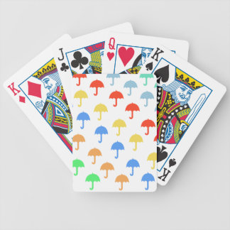Abstract Floating Umbrellas Bicycle Playing Cards