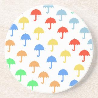 Abstract Floating Umbrellas Coaster