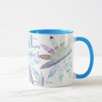 Abstract Floral - 11 oz Combo Mug