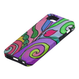 Abstract Floral 1 iPhone 5 Cases