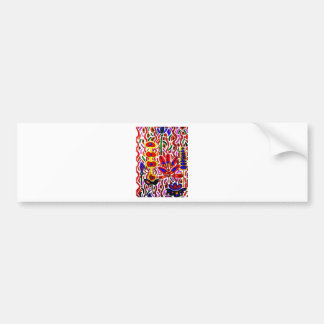 ABSTRACT FLORAL 7 BUMPER STICKER