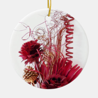 Abstract Floral Arrangement Photo Christmas Tree Ornaments