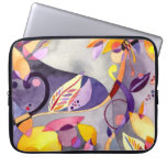 """Abstract Floral Art 15"""" Laptop Sleeve"""