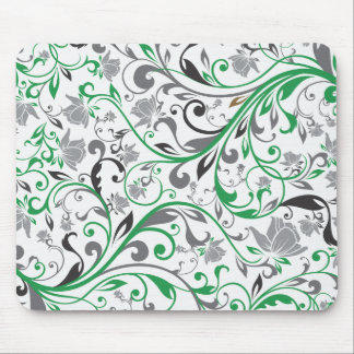 abstract floral art pattern vo4 mouse pad