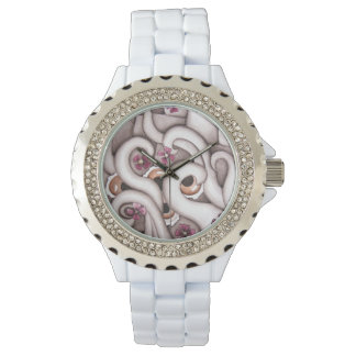 Abstract Floral art Wrist Watch