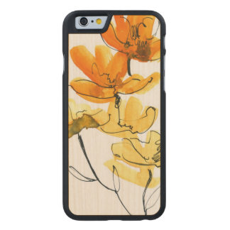 Abstract floral background carved maple iPhone 6 case